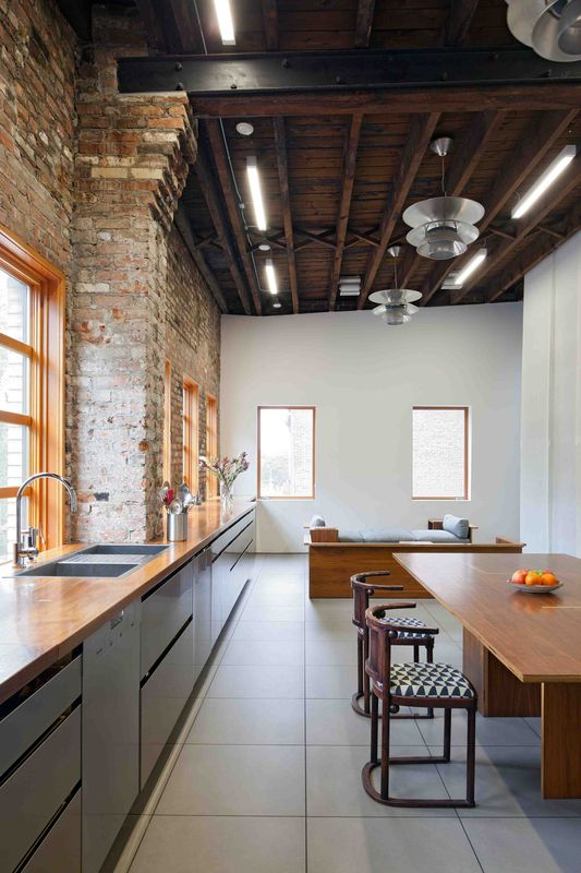 This Spacious Home in a Former Warehouse is Part Art Gallery .