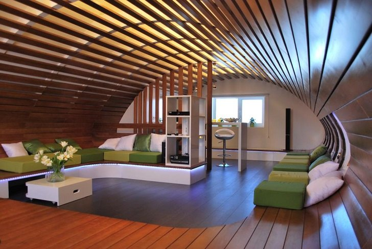 The advantages of wood ceiling in contemporary home interior desi