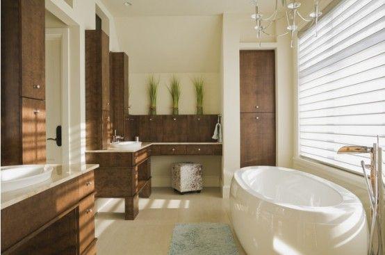 How To Make Your Interior Eco-Friendly: 20 Ideas | Deep bathtub .