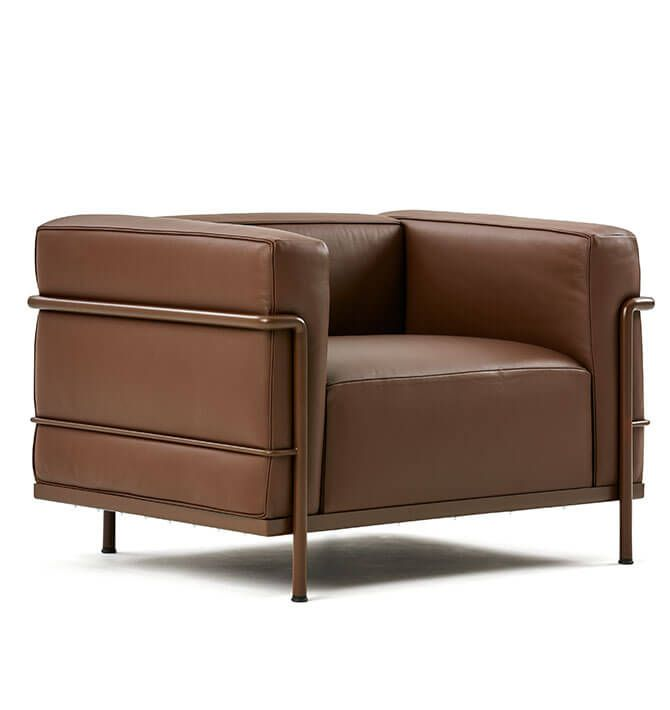 A modern expression of the traditional club chair, LC3 is based on .