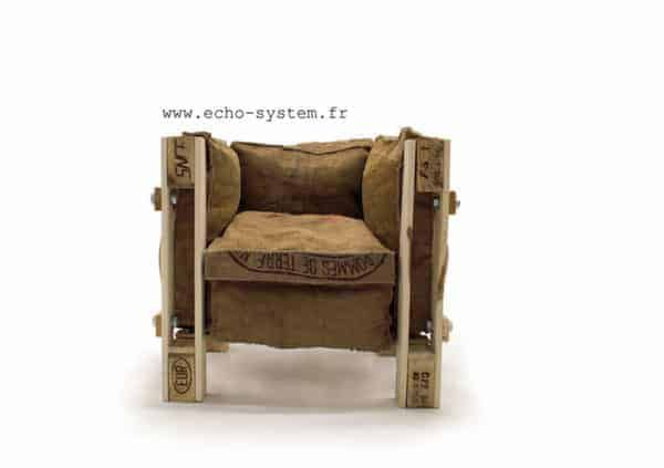 Iconic Le Corbusier Chair Made out of Junk Materials   Armchair .