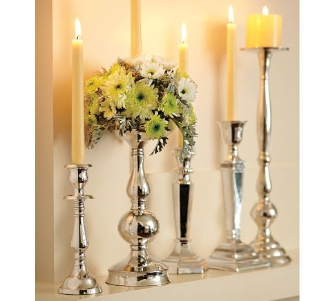 Eclectic Silver-Plated Candlesticks in 2020 | Decor, Candles .