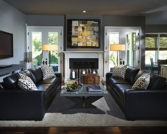 Black Leather Sofa Design Ideas, Pictures, Remodel and Decor .