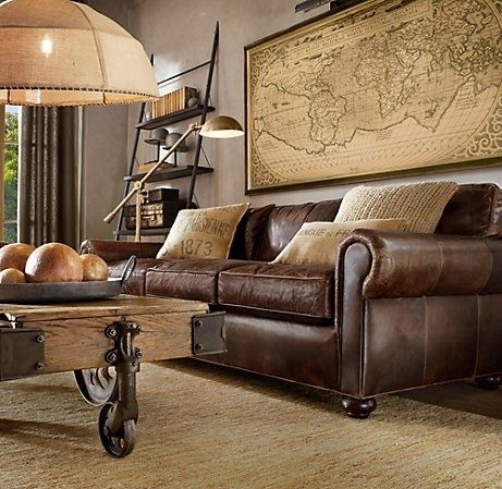 Pin by Tina Howard on House and home | Living room leather .