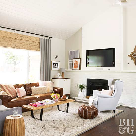 5 Ways to Decorate with Leather Furniture | Better Homes & Garde