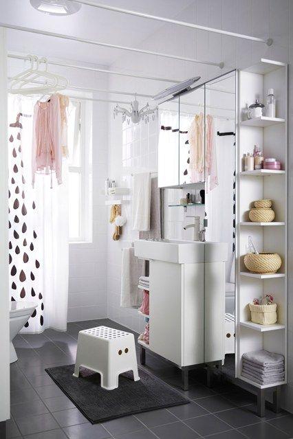 Bathroom shelving ideas for small spaces | Ikea bathroom, Rustic .