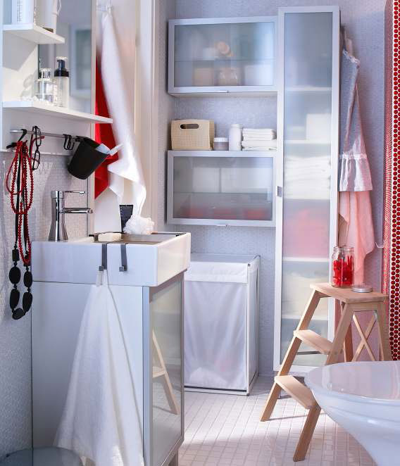Fresh Clean White Wall Bathroom Design Ideas 2012 by IKEA .