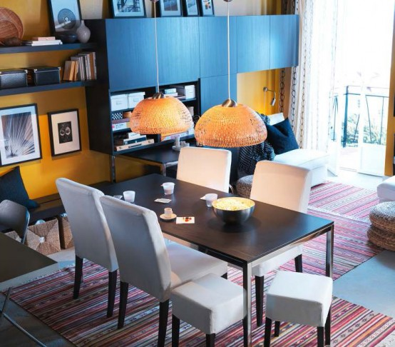 Modern Furniture: IKEA Dining Room Decorating Design Ideas 20