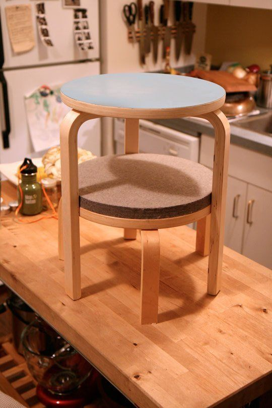 How To Make a Great Side Table from IKEA Frosta Stools   Frosta .