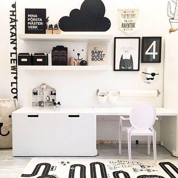 8 Stylish Ikea Hacks For A Black And White Kids Room | White kids .