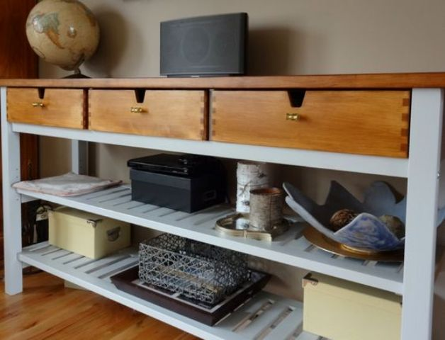 25 Ways To Use And Hack IKEA Norden Buffet - DigsDi