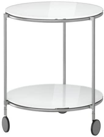IKEA STRIND – Side table, white, nickel-plated – 50 cm: Amazon.de .