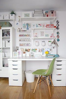 Desk organizing ideas. Would work great for a dressing / make up .