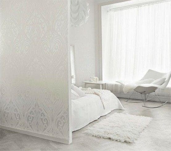 48 Impressive Bedroom Design Ideas In White | All white room .