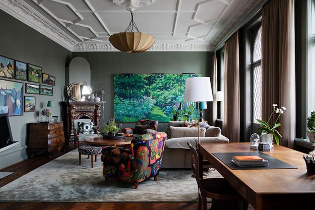 Colorful Interior Decorating Ideas, Dark Room Colors Romanticizing .