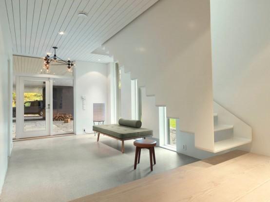 Impressive Dark Scandinavian Home With Modern Interiors - DigsDi