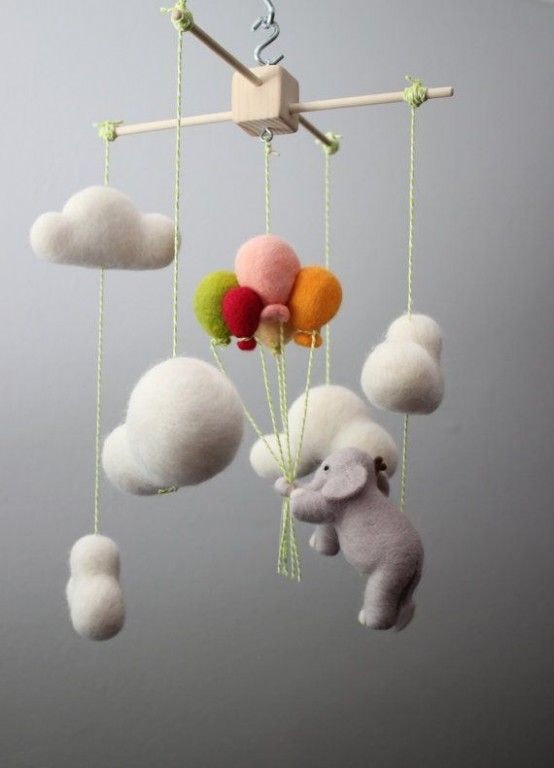 35 Incredibly Cute And Dreamy Nursery Mobiles   Felt baby, Baby .