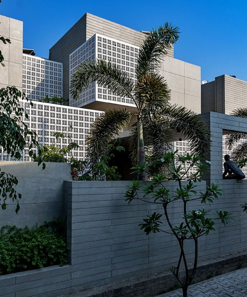 sanjay puri architects uses 18 screens to shield house in northern .