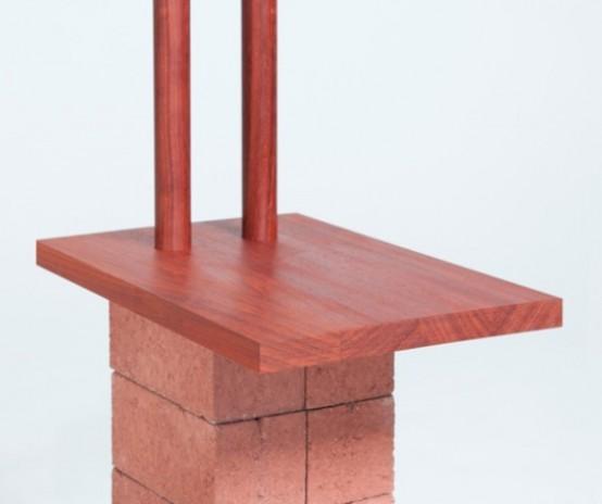 Industrial Building Furnishings Of Bricks And Wood - DigsDi