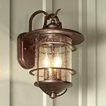 Casa Mirada Industrial Rustic Outdoor Light Fixture Bronze 16 1/4 .