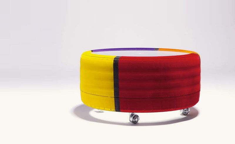 Tire Table by Tavomatico – Undestructable as they Come | Tire .