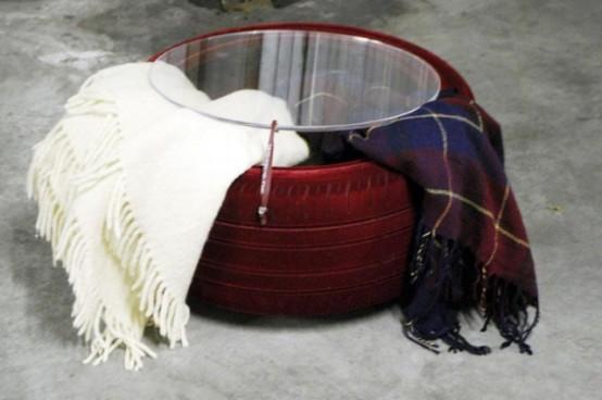 Industrial Chic Tire Table By Tavomatico - DigsDi