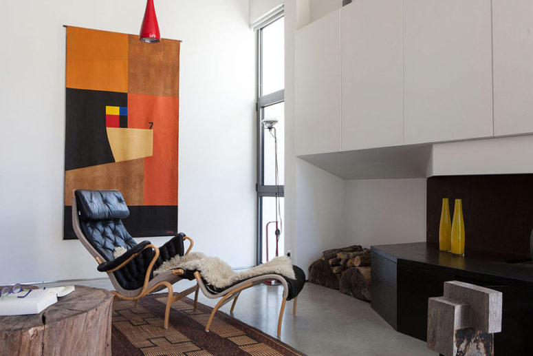 Modern Industrial Home With Colorful Touches - DigsDi