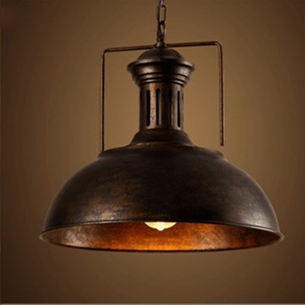 Vintage Retro Industrial Ceiling Light Lamp Shade Fixture Lighting .