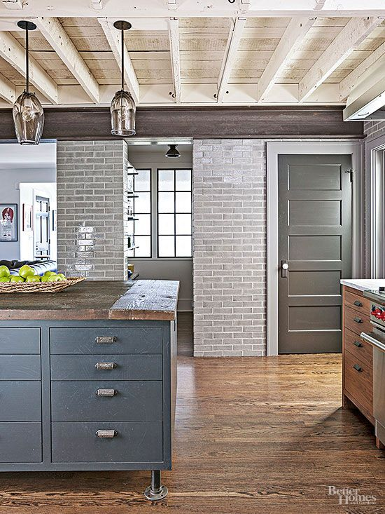 Industrial Meets Rustic in this Kitchen   Rustic kitchen design .