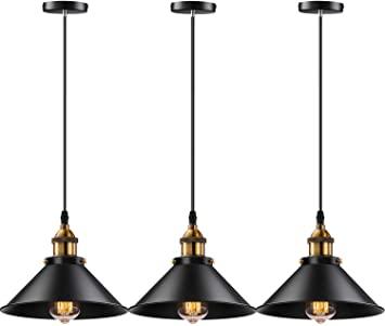 Licperron Industrial Pendant Light E26 E27 Base Vintage Hanging .