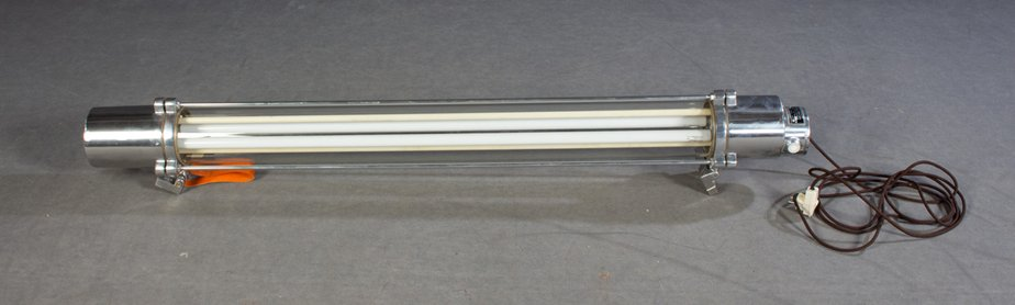 Large Mid-Century Industrial German Fluorescent Tube Light from .