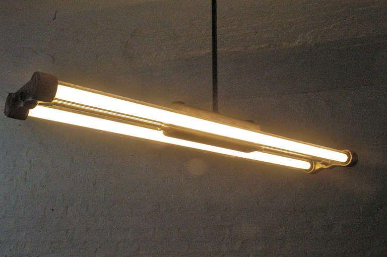 1 of 2 Industrial Fluorescent Tube Lamps | 1stdibs.com | Tube lamp .