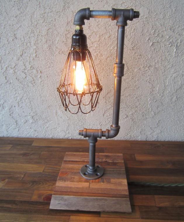 20 Interesting Industrial Pipe Lamp Design Ide