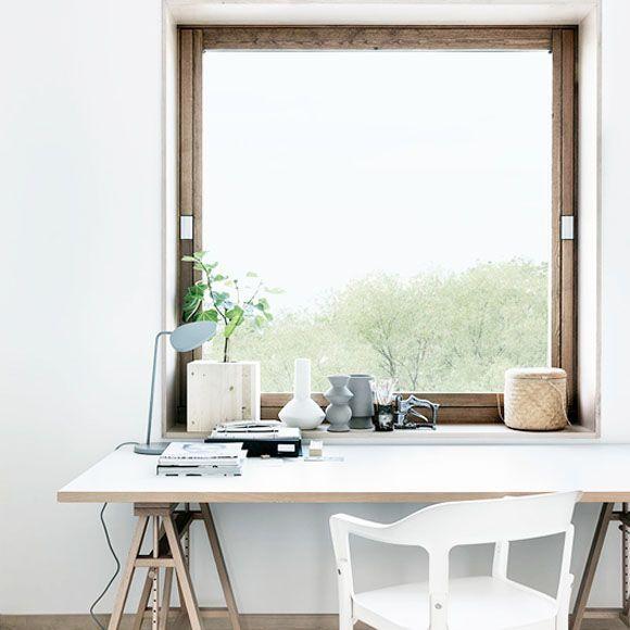 workspace wood windows traditional texture metal lamp industrial .
