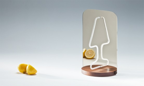 Ingenious Moitie Table Lamp Playing With Reflections - DigsDi