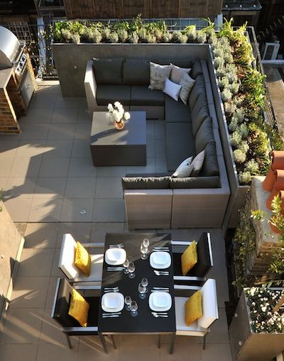LuxDeco Style Guide | Rooftop terrace design, Terrace furniture .