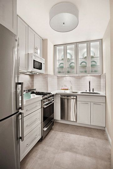 Our 10 Favorite Small Kitchens Inspiration Gallery | Small white .
