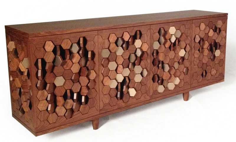 Unique Designs: Bionic Sideboard with Rotating Hexago