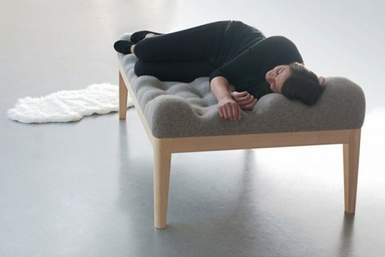 Inviting Upholstered Kulle Daybed With An Uneven Surface - DigsDi