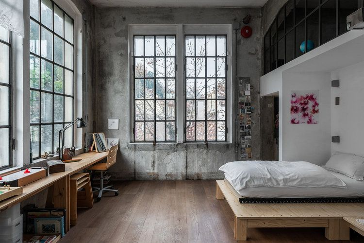 An Industrial Artist Loft in Italy With Jaw Dropping Windows in .
