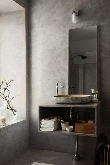 Pella Hedeby: Lyft badrummet med betongputs | Badrumsinspiration .