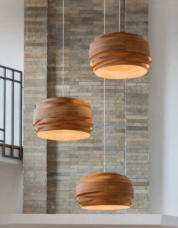 Ceiling Lamp Pendant Light Wood Lamp Bamboo Lamp Shade   Etsy .