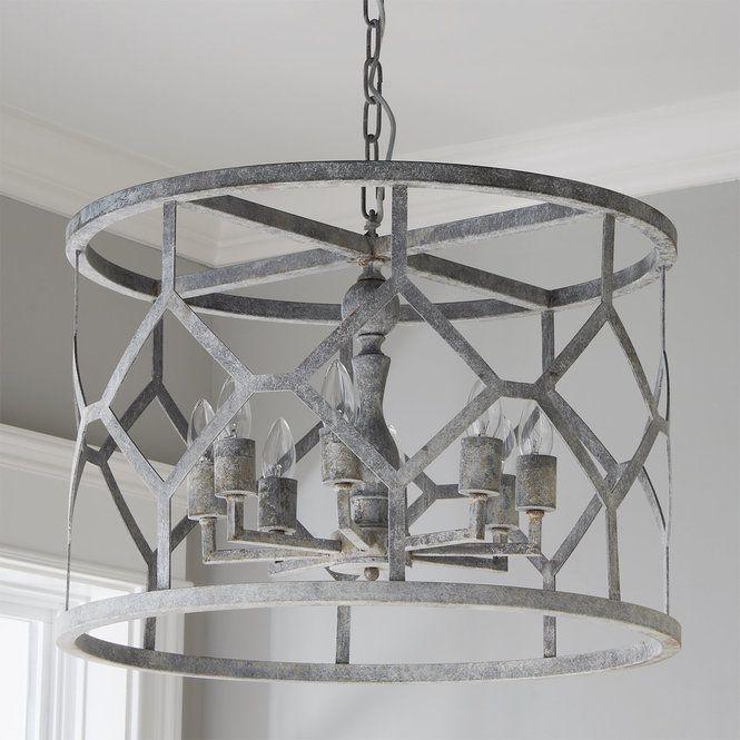 Diamond Drum Metal Pendant - Shades of Light   Dining room light .
