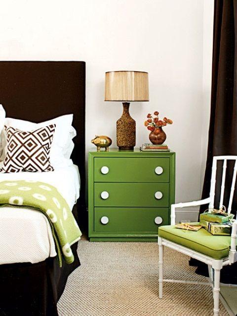 Juicy Green Accents in Bedrooms – 59 Stylish Ideas_19 | Bedroom .