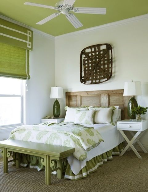 Juicy Green Accents In Bedrooms – 59 Stylish Ideas | Eclectic .