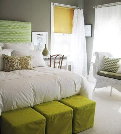 Cool Juicy Green Accents In Bedrooms – 59 Stylish Ideas : Cool .