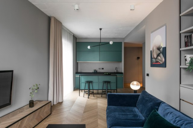 Modern Apartment With Laconic Design And Muted Tones - DigsDi