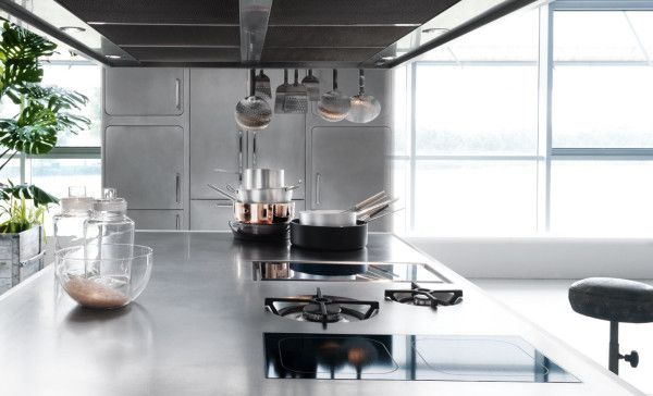 A Stainless Steel Kitchen Designed for At-Home Chefs - Design Milk .