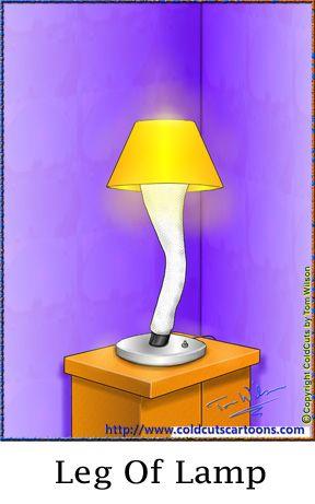 ColdCuts Cartoons Leg of Lamp   Cartoon legs, Cartoon, La