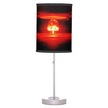 Glowing Nuclear Atomic Bomb Mushroom Cloud Table Lamp   Zazzle.com .